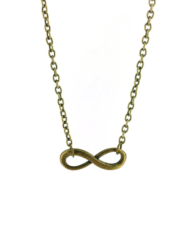 infinity charm necklace options available fallen