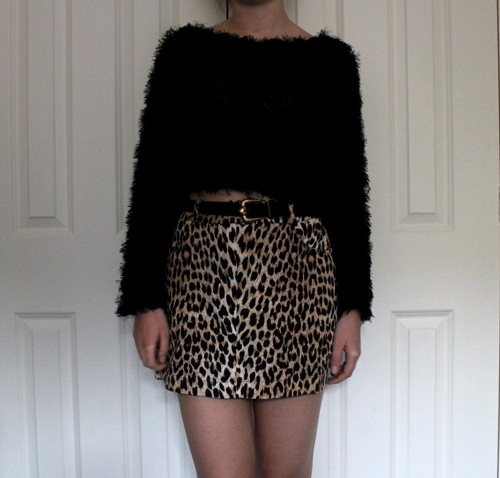 Image of Vintage leopard Print Skirt Size 6/8