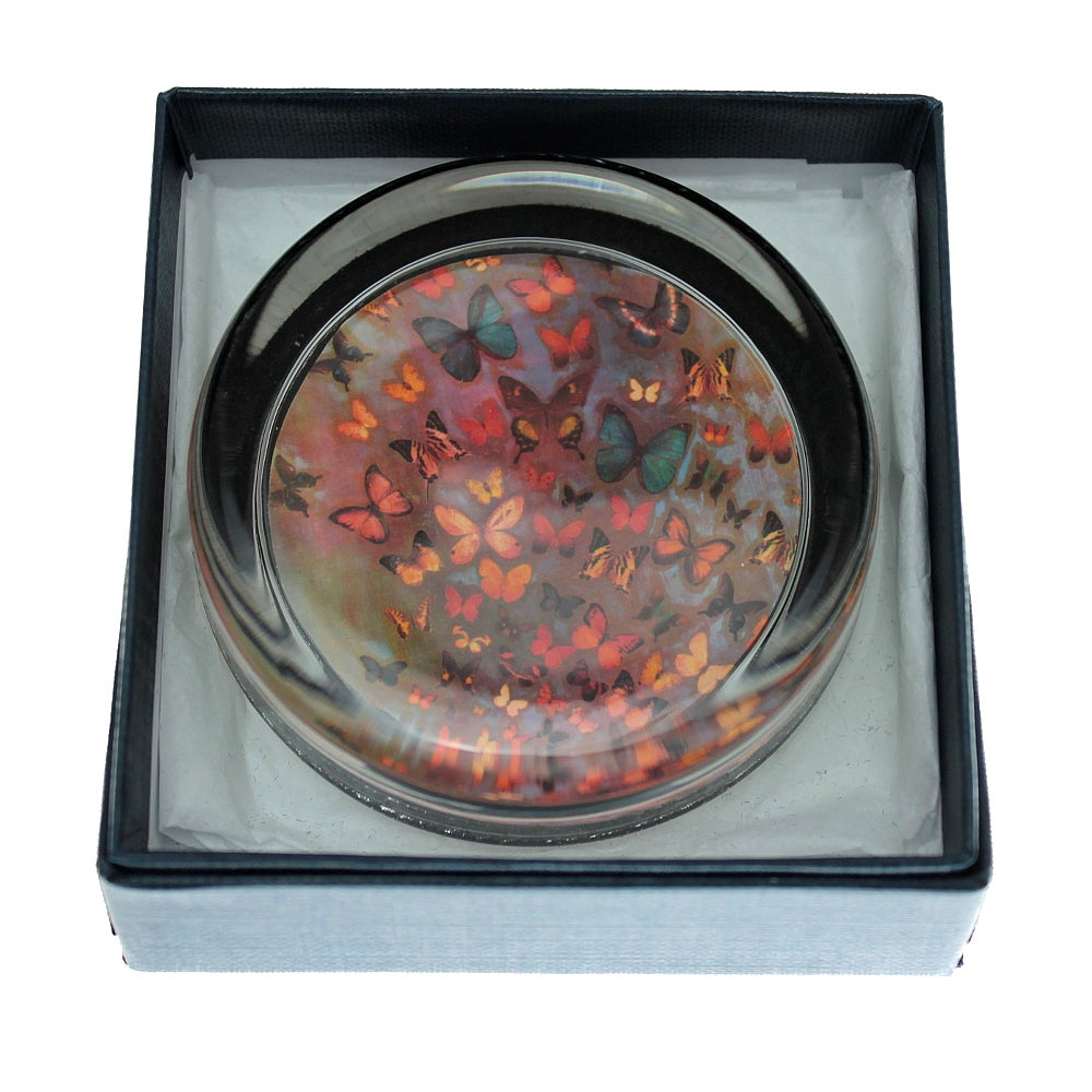 Image of END OF LINE SALE: 50% off - Paperweight - Heather Butterflies