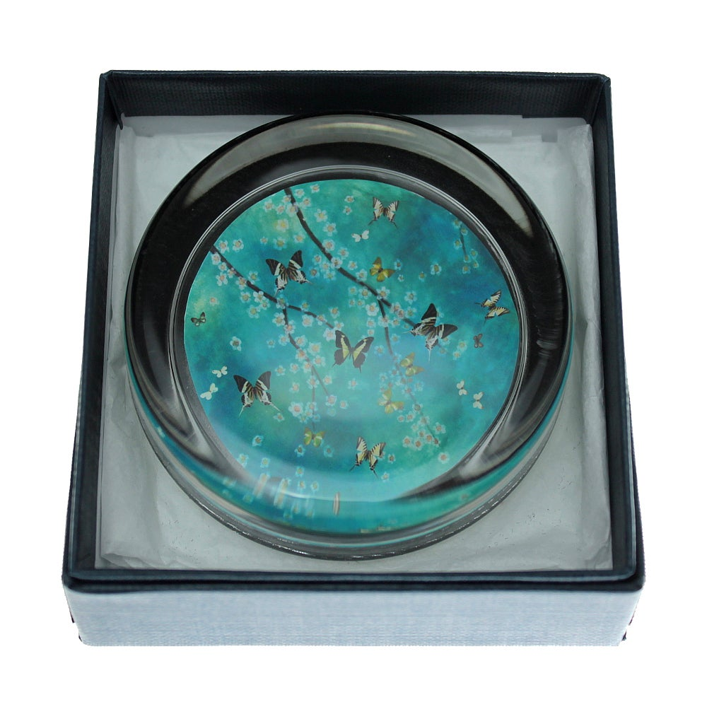 Image of END OF LINE SALE: 50% off - Paperweight - Spring Butterflies
