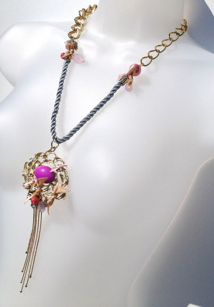 Image of Cord Ribbon Necklace - As seen on Amy Bangle #Girlfri3nds