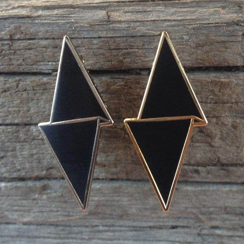 Image of Paper Diamond Logo Hat Pin