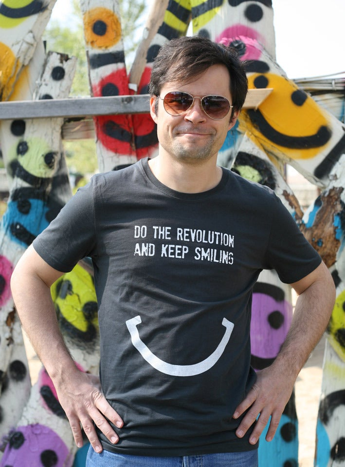 Image of DO THE REVOLUTION AND KEEP SMILING - Männer T-Shirt