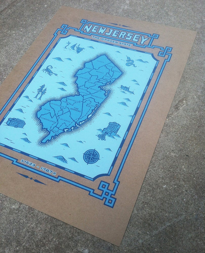 Image of new jersey map