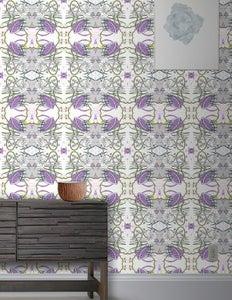 Image of Wallpaper Pattern: Calypso <br> Color Way: Amethyst