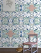 Image of Wallpaper Pattern: Valetta <br> Color Way: Brilliant Sea