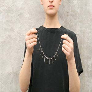 Image of Bones Necklace Mixed Metals