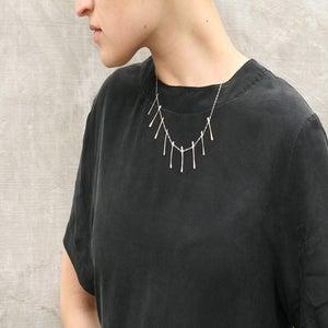 Image of Bones Necklace Silver