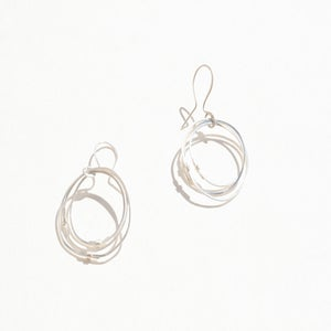 Image of Circle Earrings Silver