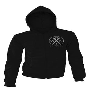 Image of the Crossed Planes hoodie (Black/White)