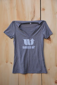 Image of World Up Ladies V-Neck Tees