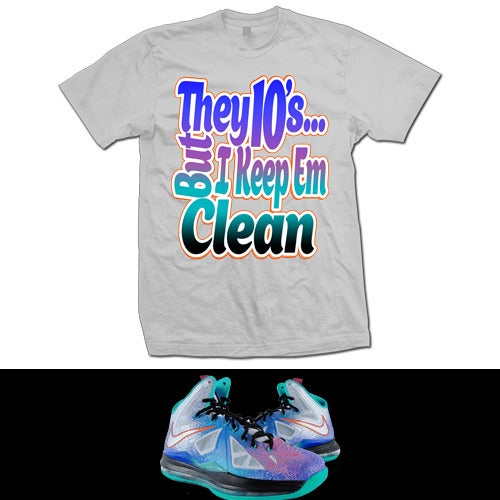 Image of LEBRON X PURE PLATINUM T SHIRT - GREY