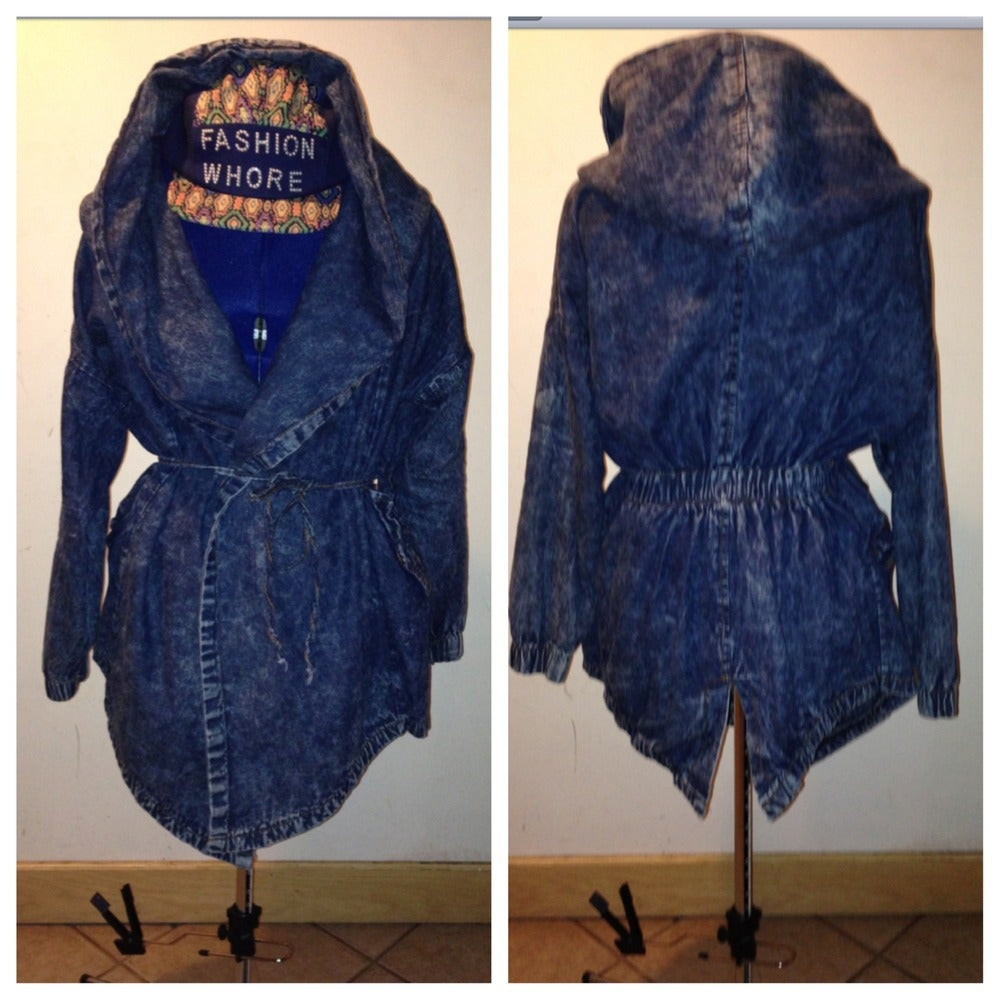 Image of Hooded Denim Jacket