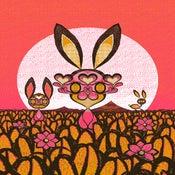 Image of BUNNIES! Pink colorway.