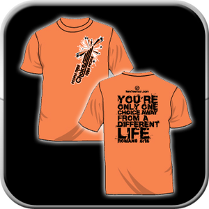 Image of T-shirt - Choices (Sunset Orange)