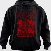 Image of RED Inverted Crucifixion HOODIE