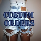 Image of Renae Cut Offs Custom Orders