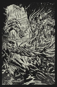 Image of Dagon Glow in the Dark Screen Print