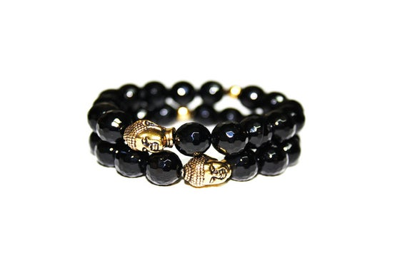 Image of THE GOLDEN BUDDHA + ONYX BRACELET