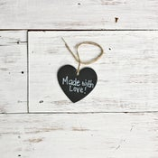 Image of Heart Chalkboard Tags