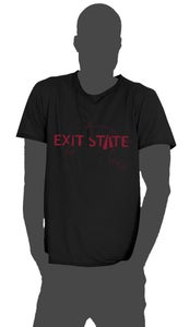 """Image of Exit State 2013 T-shirt """"Black, with jagged edges"""""""