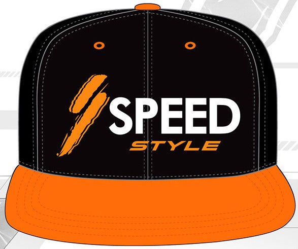 Image of SPEED Style Orange One Snap Back Hat