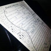 "Image of Hand written ""Simple Love Song"" lyrics with 'Ukulele Chords"