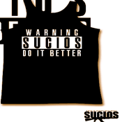 "Image of Sucios ""Warning"" Tanks Black"