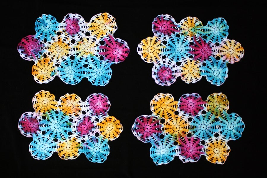 "Image of Placemats, Seafoam ""Fireworks"" Set of 4"