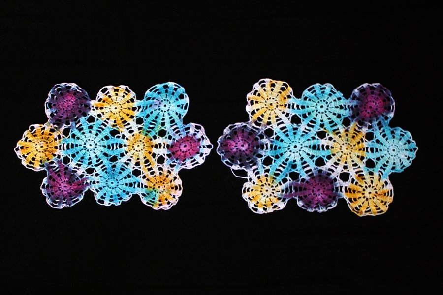 """Image of Placemats, Seafoam """"Fireworks"""" Set of 2"""
