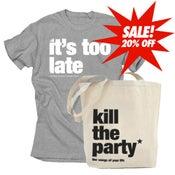 Image of t-shirt + ktp tote bag