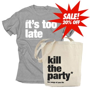 Image of t-shirt + ktp tote bag