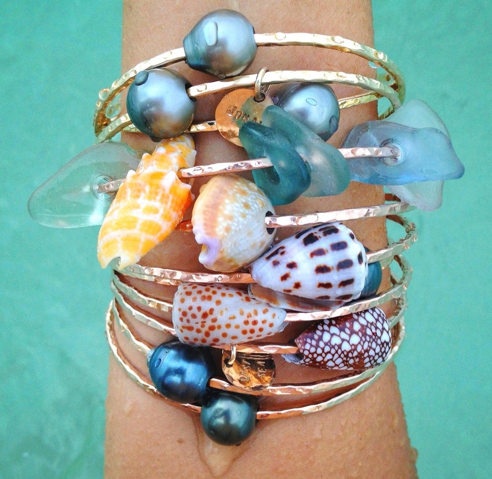 Image of Hawaiian Seashell Bangles