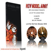 Image of New Model Army 30th Anniversary Live DVD Free shipping Worldwide