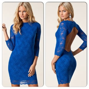 Image of Honor Gold Blue Short Lisa Dress