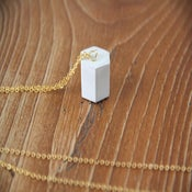 Image of Cement Hexagon Necklace