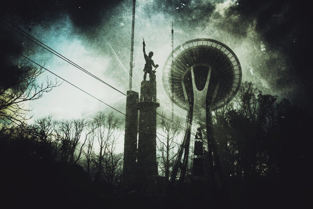 Image of Vulcan/Space Needle photograph print by Ryan Russell