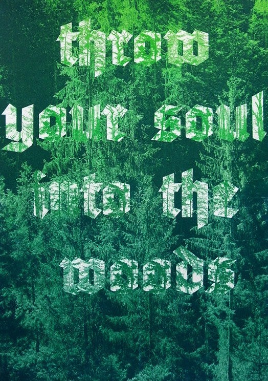 Image of 'Throw Your Soul into the Woods' by Alex Heaton