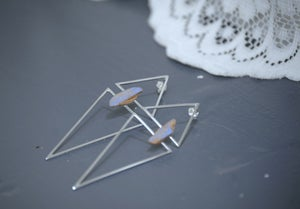 Image of Two Triangle Lilac Earrings