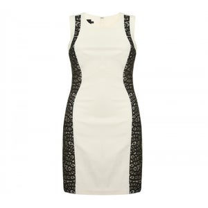 Image of Hybrid Vera Cream Dress with Black Lace