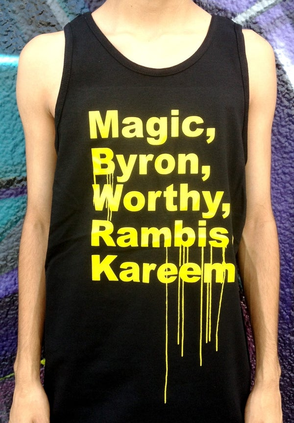 Image of LAKERS '85 SHOUTOUT TANK-TOP