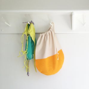 Image of Orange Creamsicle Drawstring Packing Bag