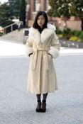 Image of Vintage Camel Faux Fur Coat