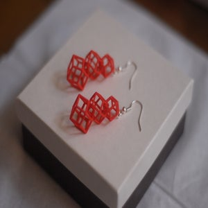 Image of Rhombic Dodecahedron earrings