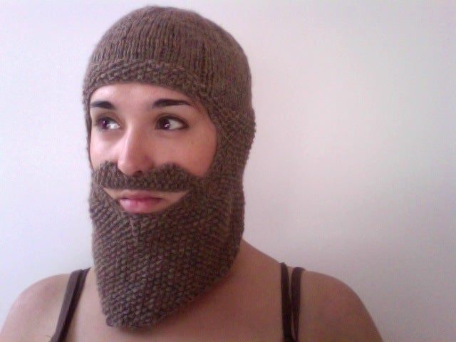 Image of Knitted Beard Balaclava