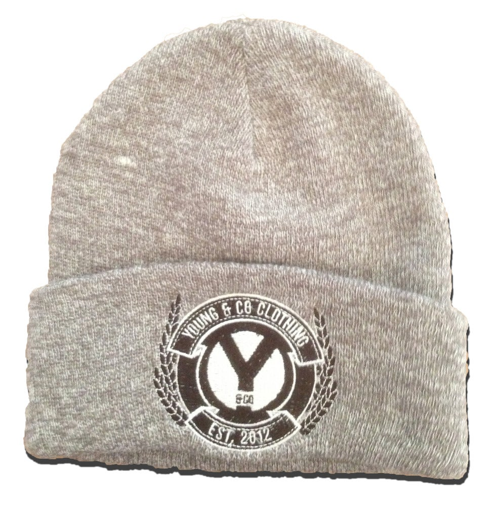 Image of Sports Grey Crest Embroidered Beanie