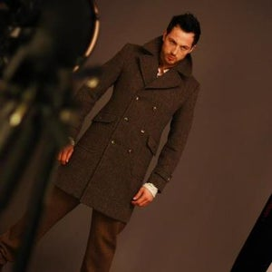 "Image of The ""Clancey"" double breasted overcoat"