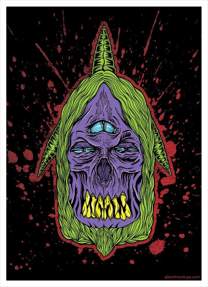 "Image of Print ""Zombie Skull"""