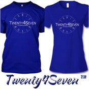 "Image of Royal Blue/White ""Twenty4Seven Logo"" Tee (Men & Women's)"