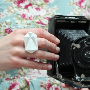 Image of Large Rocky Bone China Ring